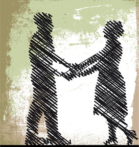 Sketch Of Dancing Couple. Vector Illustration