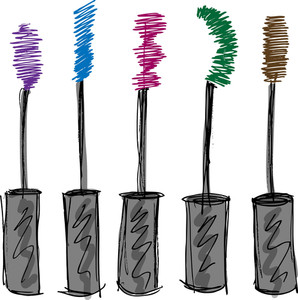 Sketch Of Eyelash Brush. Vector Illustration