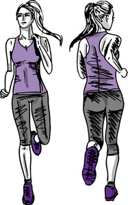 Sketch Of Female Marathon Runner