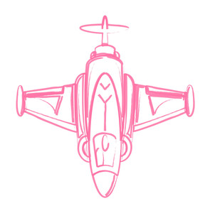 Sketch Of Fighter Plane