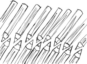 Sketch Of Pencils Pattern. Vector Illustration