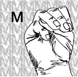 Sketch Of Sign Language Hand Gestures