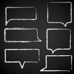 Sketch Of Speech Bubbles Chalked