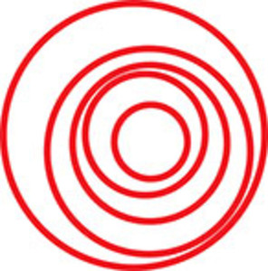 Sketch Of Spiral Circle Design Element.