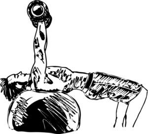 Sketch Of Strong Man. Vector Illustration