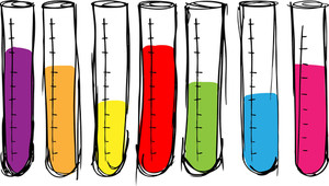 Sketch Of Test Tube. Vector Illustration