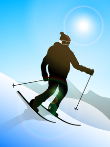 Skier Performing Skiing