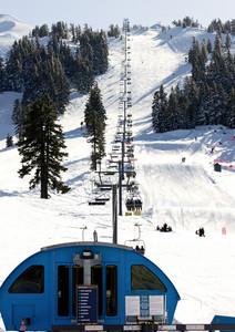 Skiers Ski Lifting