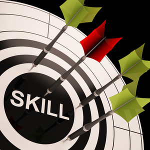 Skill On Dartboard Shows Gained Skills