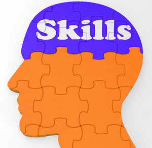 Skills Brain Shows Abilities Competence And Training