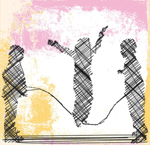 Skipping Rope. Vector Illustration