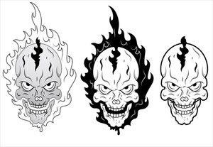 Skull Burning Vector