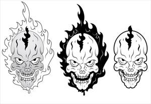 Skull Burning Vector