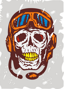 Skull Face Pilot Airman