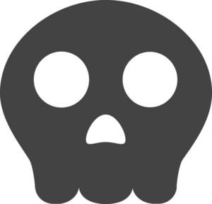 Skull Glyph Icon