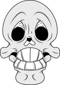 Skull Illustration   Funny Expression