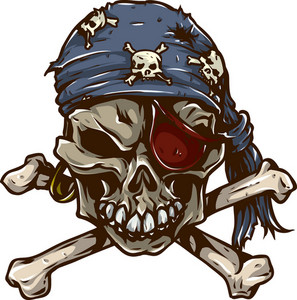 Skull Vector Element Pirate Bandana