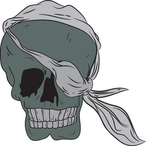 Skull Vector Element With Eye Patch
