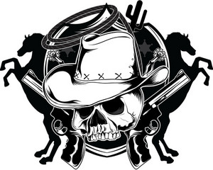 Skull Vector Element With Hat