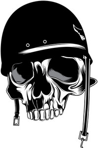 Skull Vector Element With Helmet