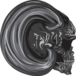 Skull Vector Element With Horn