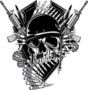 Skull Vector Element With Razor