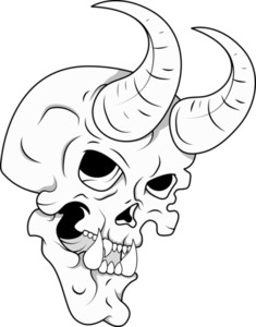 Skull With Horn