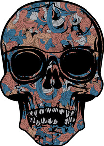 Skull With Sunglasses Vector T-shirt Design