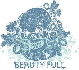 Skull With Sunglasses Vector T-shirt Design