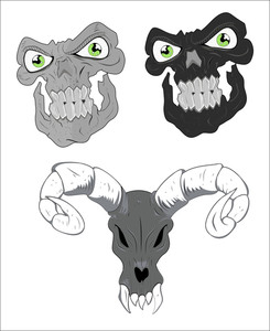 Skulls Vector Designs