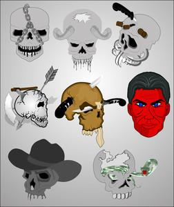 Skulls Vectors Sets