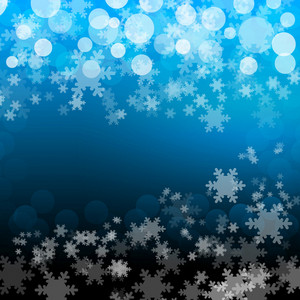 Sky Blue Snowflakes Background