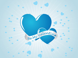 Sky Blue Valentine Card