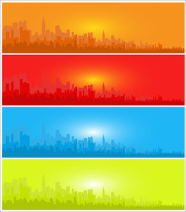 Skyline Banners Set