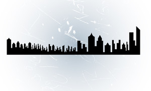 Skyline Grunge Background