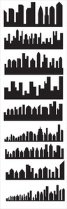 Skyline Silhouettes Vectors