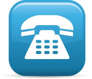 Sleek Phone Elements Glossy Icon