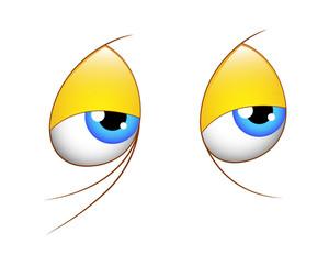 Cartoon Image Of Tired Eyes Stock Vector - Illustration of empty, feeling:  95671049