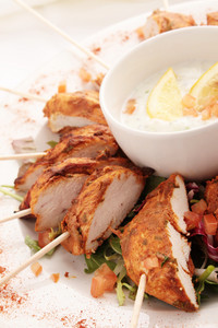 Sliced Chicken Tikka Platter