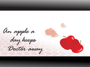 Slogan For Good Health With Apple