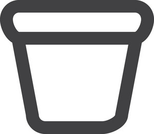 Small Bin Stroke Icon