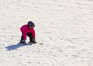 Small Kid Skier