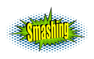 Smashing Retro Text Banner Vector