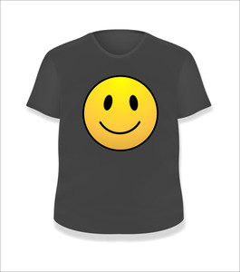 Smiley Black T-shirt Design Vector Illustration Template