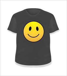 Smiley Black T-shirt Design Vector Illustration Template