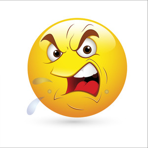 Smiley Emoticons Face Vector - Angry Expression