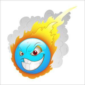 Smiley Emoticons Face Vector - Asteroid