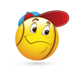 Smiley Emoticons Face Vector - Baseball