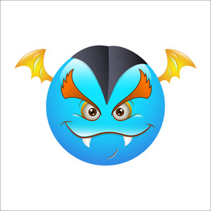 Smiley Emoticons Face Vector - Bat