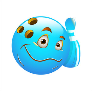 Smiley Emoticons Face Vector - Bowling